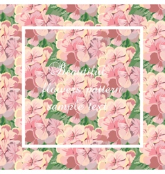Vintage Card with Watercolor flowers vector image