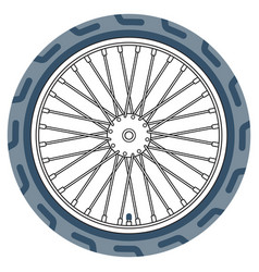 bike wheel icon vector image