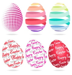3d easter eggs set vector