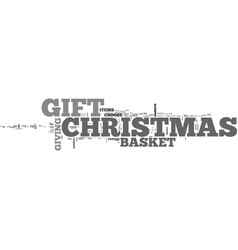 a special christmas gift text word cloud concept vector image vector image
