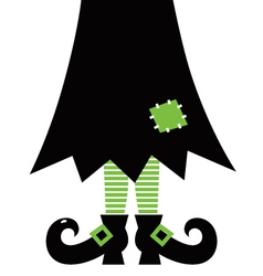 Retro Halloween Witch vector image vector image