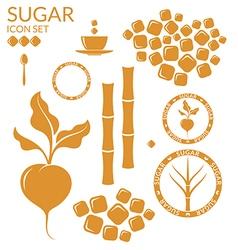 Sugar Set vector image vector image