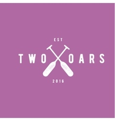 Two Oars Sign Monogram Logo in Minimalism Flat vector image