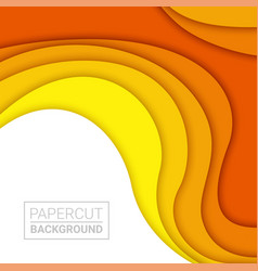 3d abstract background and paper cut shapes vector