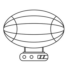aerostat airship icon outline style vector image