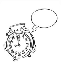Alarm Clock Bubble Speech vector