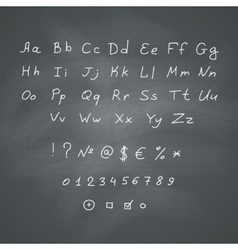 Alphabet on chalkboard vector