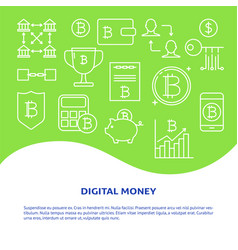 alternative money poster with place for text vector image