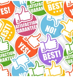 Approval paper stickers seamless background vector image