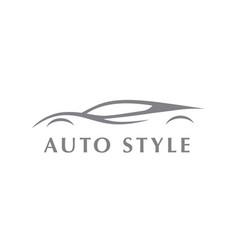 Auto sports car logo vector