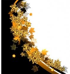 autumn frame maple leaf vector image
