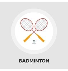 badminton flat icon vector image