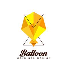 balloon original design creative badge for vector image