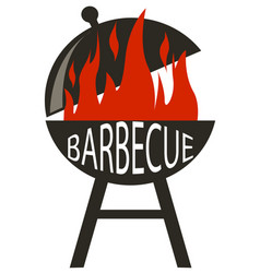 Barbecue icon in black style isolated on white vector