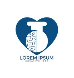 brain lab logo design vector image
