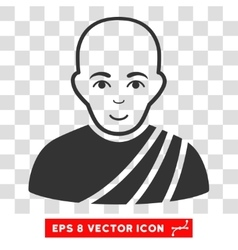 Buddhist Monk EPS Icon vector image