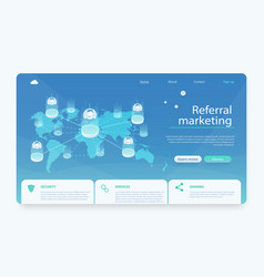 Business partnership referral program strategy vector