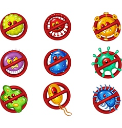 Cartoon of stop virus vector image