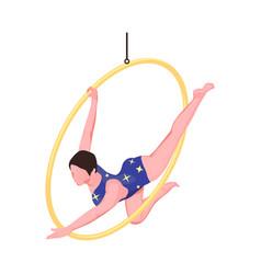 Circus acrobat icon vector