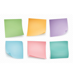 Color note stickers four color sheets for notes vector
