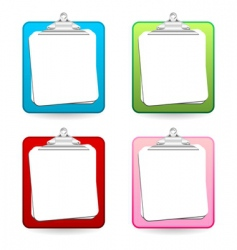 colorful clipboards vector image