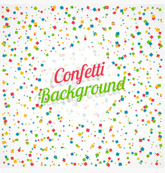 Colorful square confetti background vector