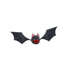 cute happy smiling cartoon halloween bat character vector image