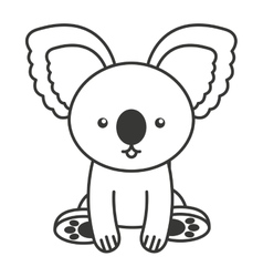 cute koala animal tender isolated icon vector image