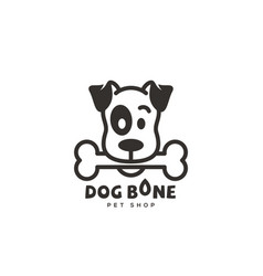 Dog bone logo vector