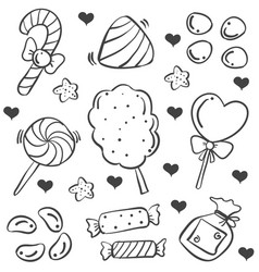 Doodle of candy various art vector