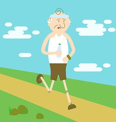 Elderly people in sports vector image