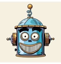Emoticon happy emoji robot head smiley emotion vector