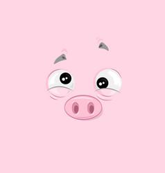 Feeling of nausea piggy vector