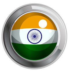 Flag icon design for india vector