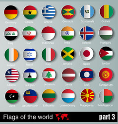 Flags all countries vector