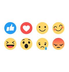 flat design modern emoji vector image