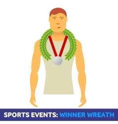 Flat icon sport events vector
