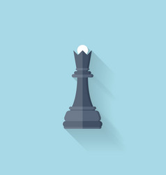 Flat web icon Chess figure vector image
