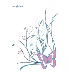 floral butterfly design vector image