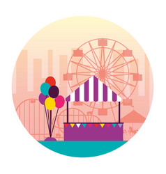 fun fair carnival vector image