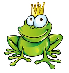funny frog prince vector image