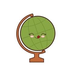 Global sphere class school instrument icon vector