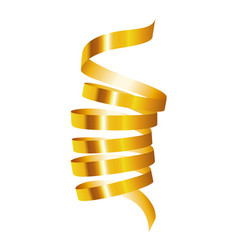 gold serpentine mockup realistic style vector image