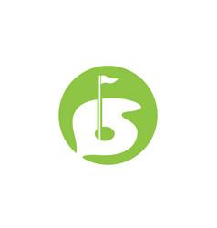 Golf logo template vector