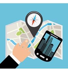 gps technology vector image