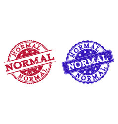 Grunge scratched normal seal stamps vector