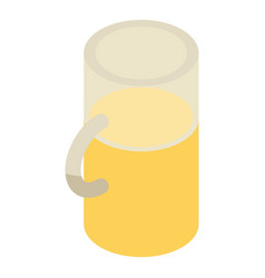 half mug of beer icon isometric style vector image