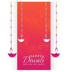 Happy diwali holiday festival background with vector