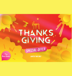 Happy thanksgiving typography poster with special vector