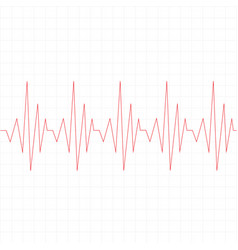 Heart beat cardiogram icon on white background vector